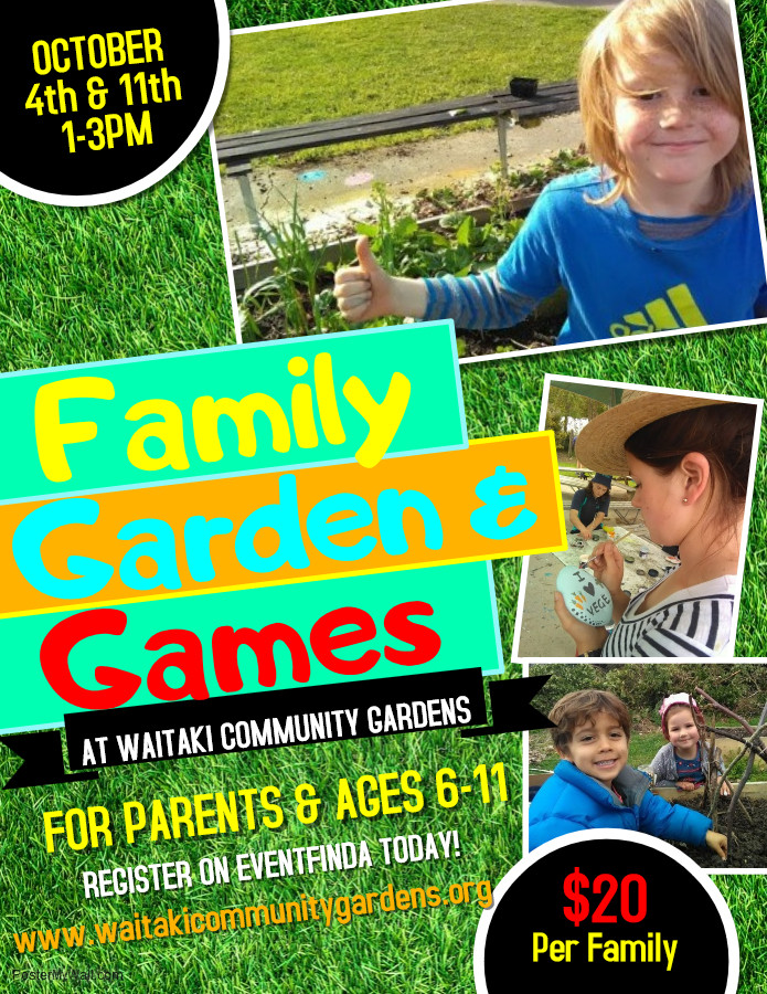 Poster for Family Garden and Games Activities