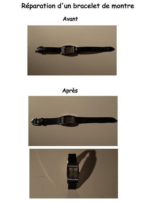 Réparation d'un bracelet de montre
