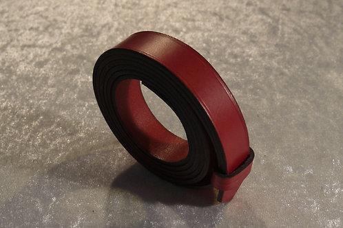 Ceinture en collet rouge, largeur et boucle au choix