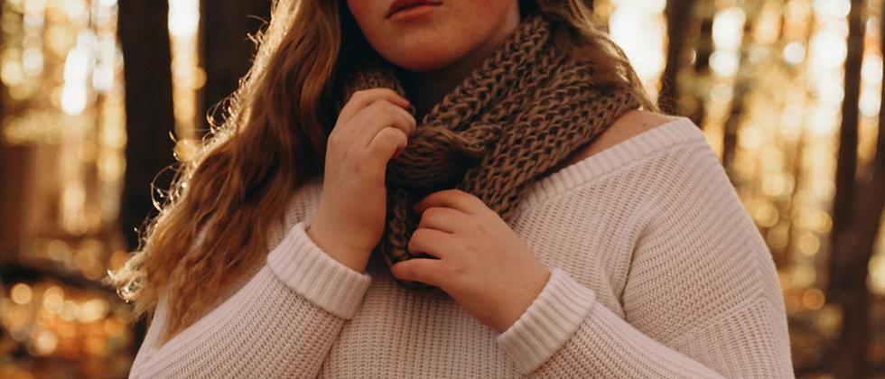 Hazel Infinity Wool Scarf