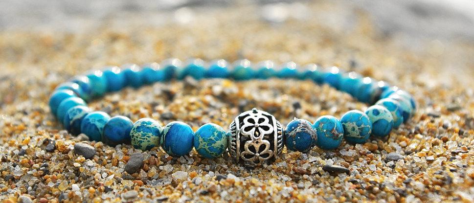 Bracelet magnésite turquoise