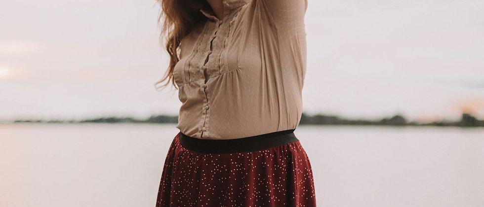 Red Wine Circle Skirt