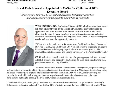 Local Tech Innovator Appointed to CASA for Children of DC's Executive Board