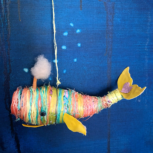 Medium Hanging Whale (Multi-color)