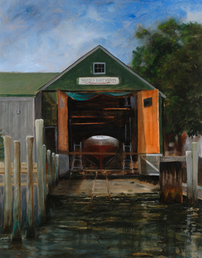 Haulout at Wooden Boatworks
