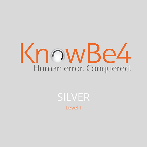 KnowBe4 Security Training Silver Subscription – 1 year User Licence