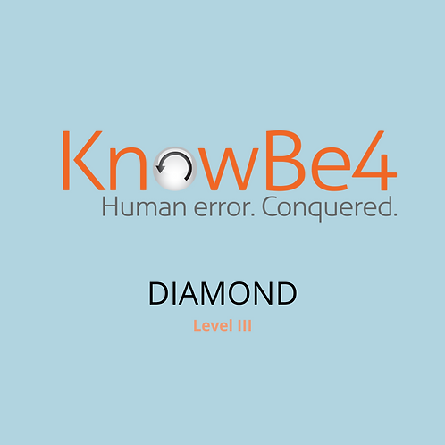 KnowBe4 Security Training Diamond Subscription – 1 Year User Li
