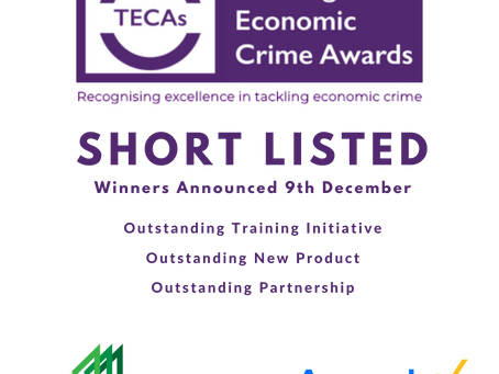 We've been shortlisted for 3 TECAS Awards!