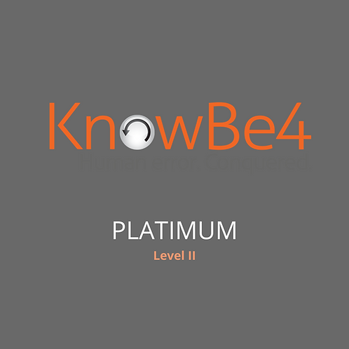 KnowBe4 Security Training Platinum Subscription – 1 Year User Licence