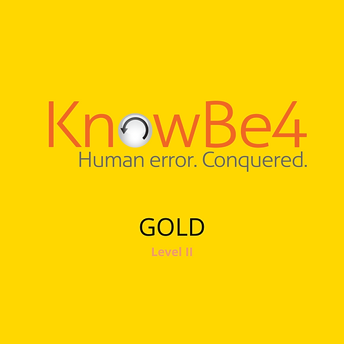 KnowBe4 Security Training Gold Subscription – 1 Year User Licence