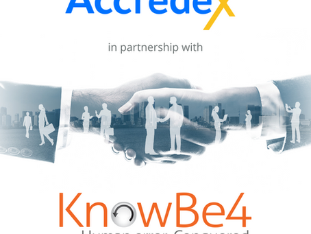 Accredex are excited to announce its new strategic partnership with KnowBe4