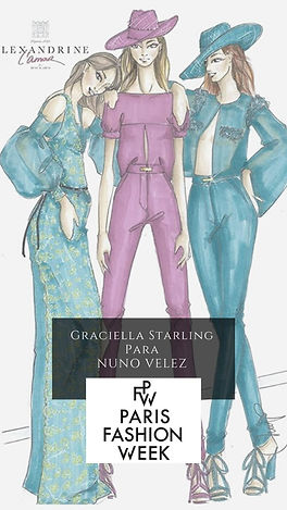 PFW Graciella Starling para Nuno Velez