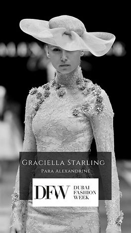 Dubai Fashion Week desfile Graciella Starling e Maison Alexandrine