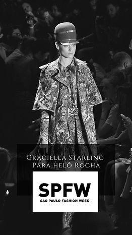 Desfile São Paulo Fashion Week Graciella Starling Alta chapelaria