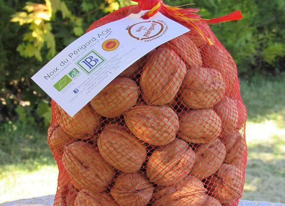 Noix sèches 1 kg, calibre moyen 28-32, variété Franquette