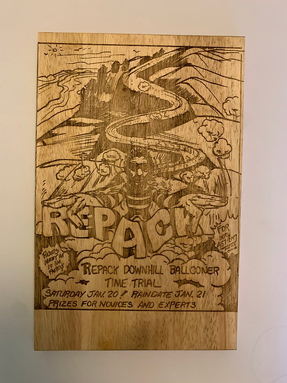 Repack Poster No1 wooden plaque