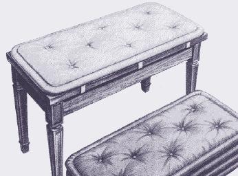 Piano Bench Pads/Cushions