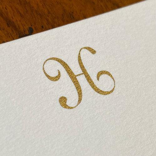 Cartão de Correspondência Lettera H