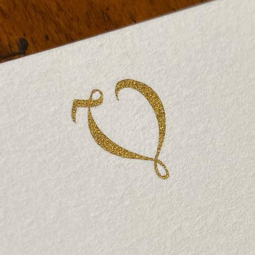 Cartão de Correspondência Lettera V