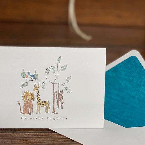 """Cartão Social """"O Rei Leão e seus Amigos"""""""