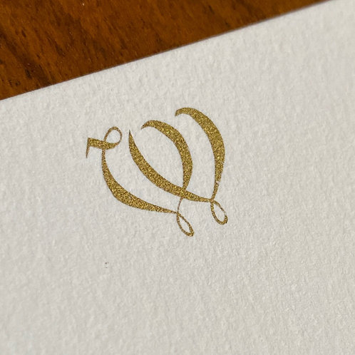 Cartão de Correspondência Lettera W