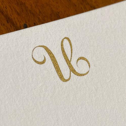 Cartão de Correspondência Lettera U