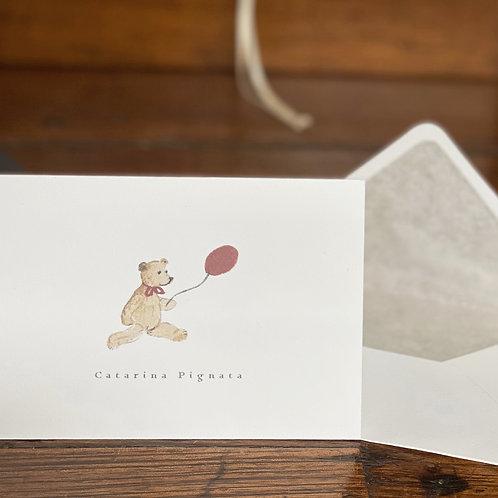 """Cartão Social """"O Urso e seu Balão"""""""
