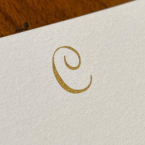 Cartão de Correspondência Lettera C