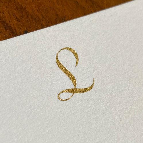 Cartão de Correspondência Lettera L