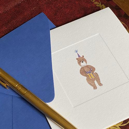 """Cartão Social """"O Urso comemora Aniversário"""""""