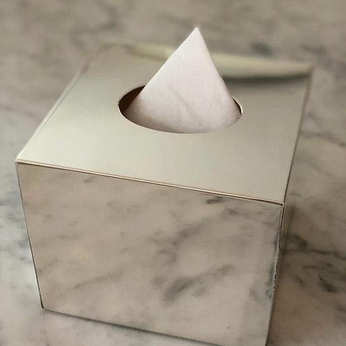 Porta-Kleenex de Prata Quadr