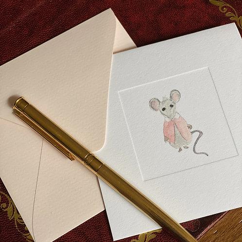 """Cartão Social """"O Rato e seu Casaco Rosa"""""""