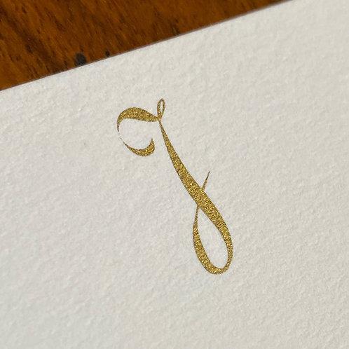 Cartão de Correspondência Lettera J