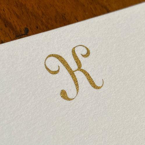 Cartão de Correspondência Lettera K