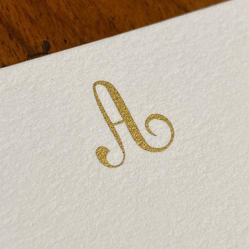 Cartão de Correspondência Lettera A
