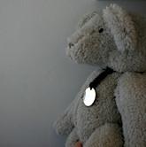 Urso Teddy Linum com placa de prata pers