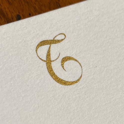 Cartão de Correspondência Lettera T