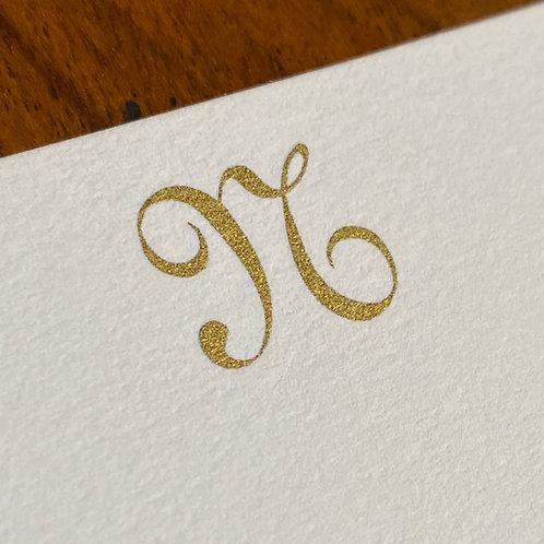 Cartão de Correspondência Lettera N