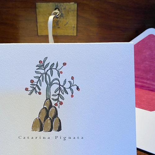Cartão Social Séc. XVI - Arbusto