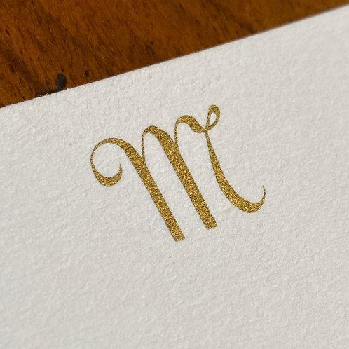 Cartão de Correspondência Lettera M