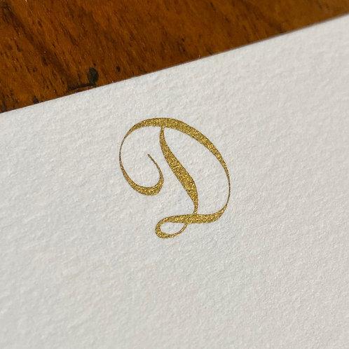 Cartão de Correspondência Lettera D