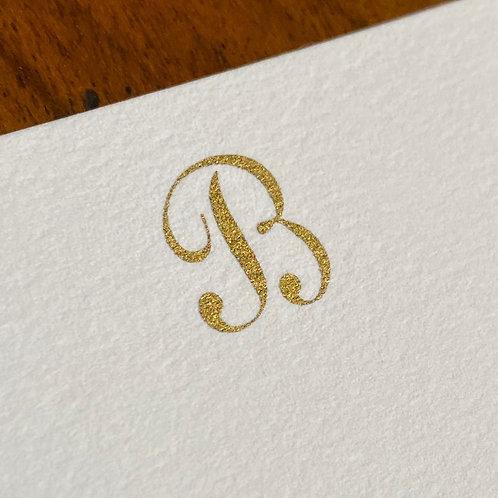 Cartão de Correspondência Lettera B
