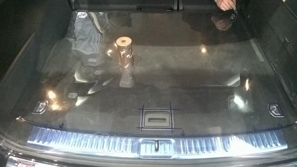Снятие лекал с багажника Audi Q7
