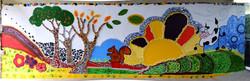 Fresque école de Saulzet