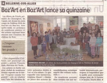 Chassignol à Boz'Art en Baz'Art