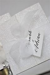 The Adagio Collection | Hptwist Wedding Stationery | Luxury Wedding Stationery UK | Lace Ivory Orgnza Booklet