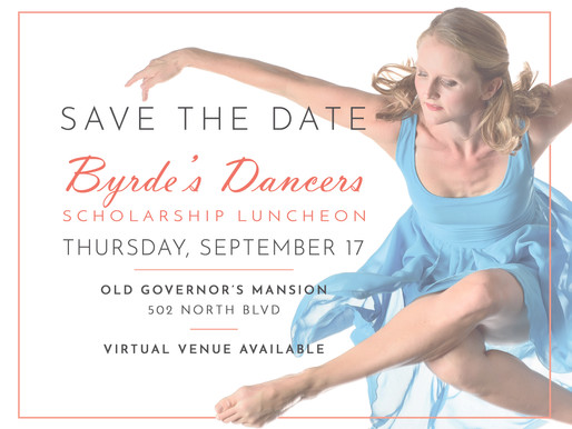 Byrde's Dancers Scholarship Luncheon Now Has Online Venue