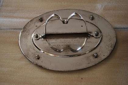 Silver Plated Communion Tray - Before