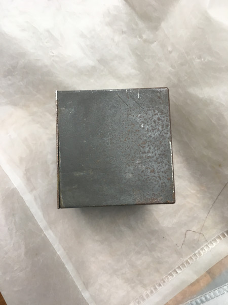 Metal box, after corrosion smoothing