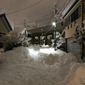 雪を楽しむ(やせ我慢)